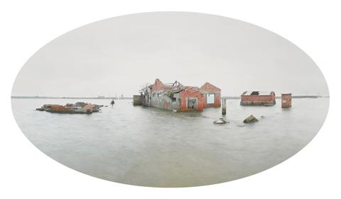 典藏圖片 - 台灣水沒01:嘉義縣布袋鹽場掌潭場務所