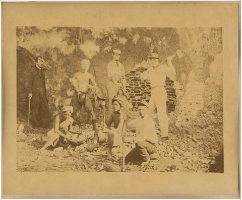 典藏圖片 - 挖掘熱蘭遮城