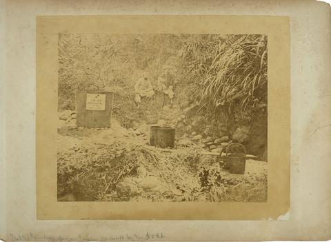 典藏圖片 - 陶得於淡水(廳)發現石油礦原油,即今苗栗出磺坑